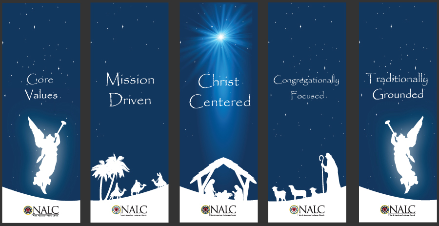 Christmas Banners.Nalc Christmas Core Values Banners Set